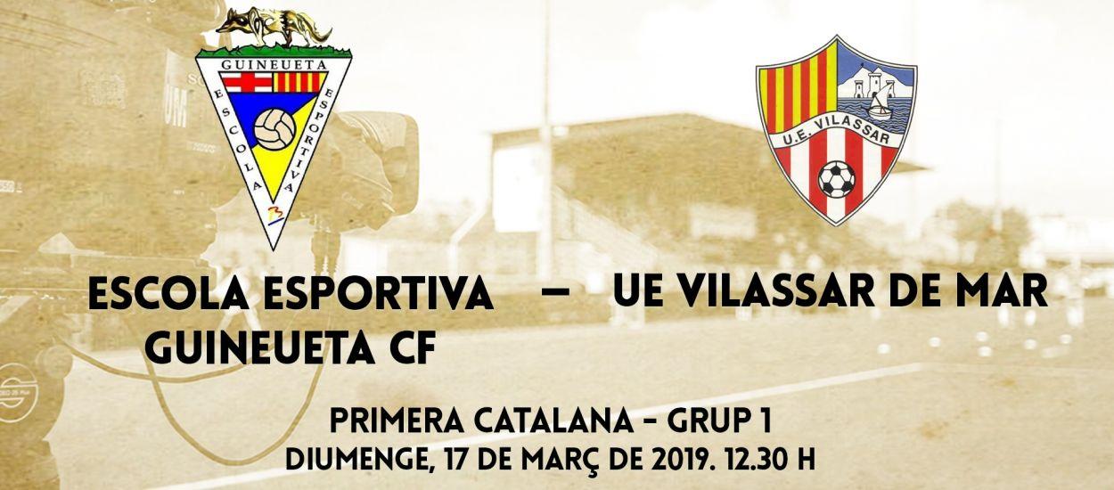 El duel entre l'Escola Esportiva Guineueta CF i la UE Vilassar de Mar, en streaming