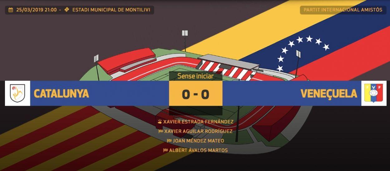 L'FCF ofereix el minut a minut del Catalunya-Veneçuela