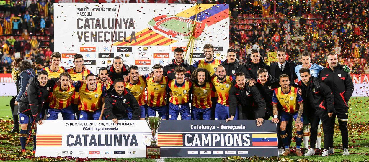 Catalunya creu fins al final i s'endú un triomf d'or contra Veneçuela