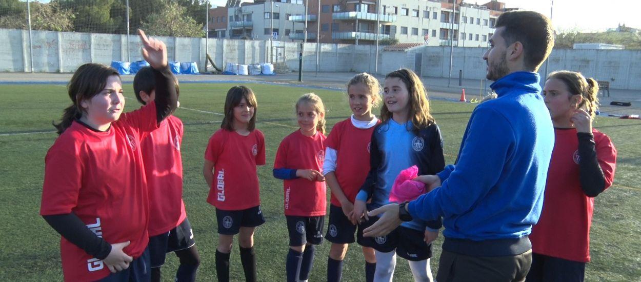 El CF Cubelles, treballant el futbol femení des de la base
