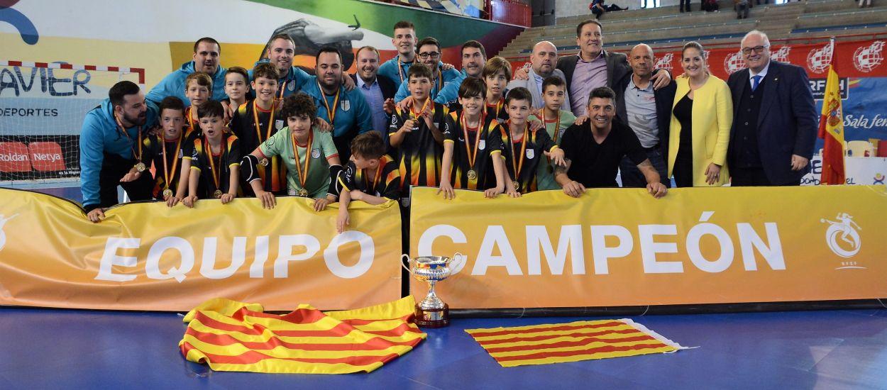 Catalunya Benjamí entra en la història del futbol sala estatal