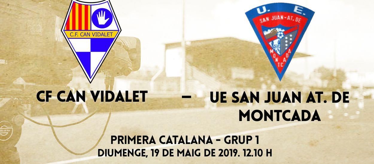 El partido entre el CF Can Vidalet y la UE San Juan At. de Montcada, en streaming