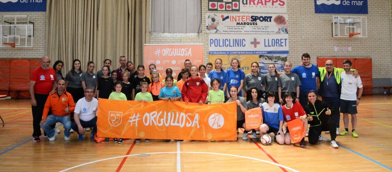 Bona participació en la primera festa del futbol sala femení a Girona