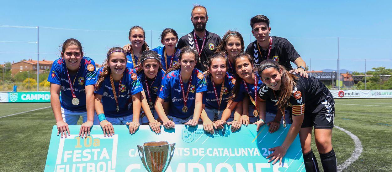 El San Gabriel sabe sufrir para alzar la Copa de Campeones Infantil Femenino