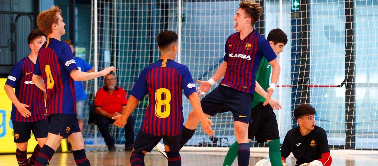 El Barça Lassa Cadet s'exhibeix per proclamar-se campió de la Copa Catalunya