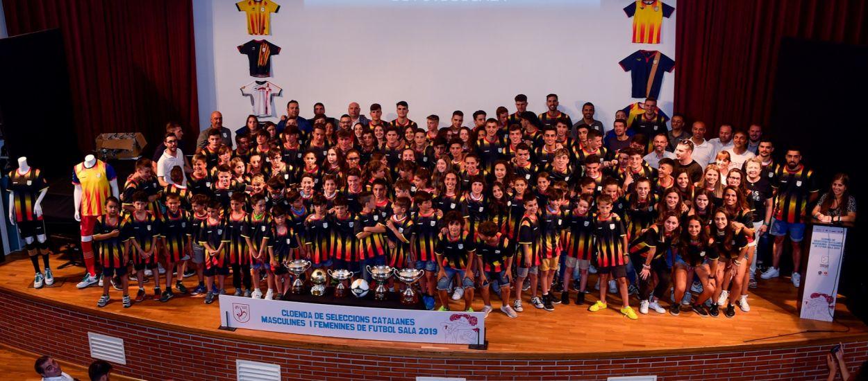 Reconeixement a les Seleccions Catalanes de Futbol Sala després d'una gran temporada