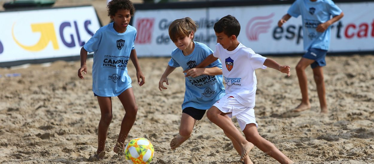 La categoria Aleví es promociona en el Campionat de Catalunya de Futbol Platja