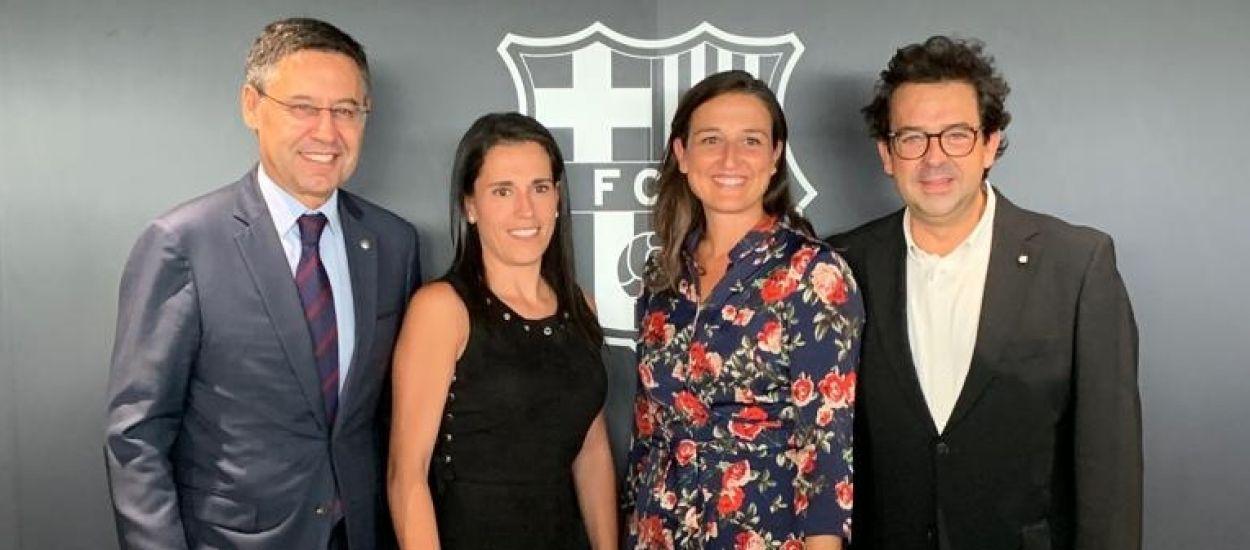 Representació institucional al debut del Barça Femení a l'Estadi Johan Cruyff