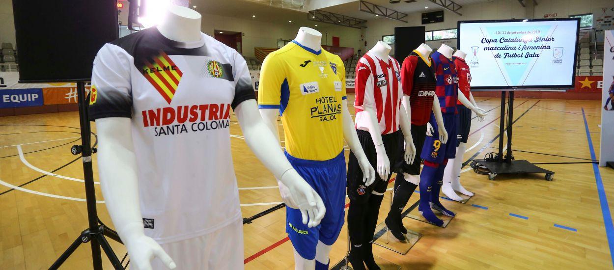 Els protagonistes de la Copa Catalunya Sènior de futbol sala