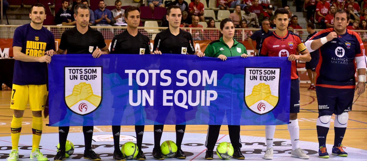 El Barça goleja i jugarà la final de la Copa Catalunya Sènior masculina de futbol sala