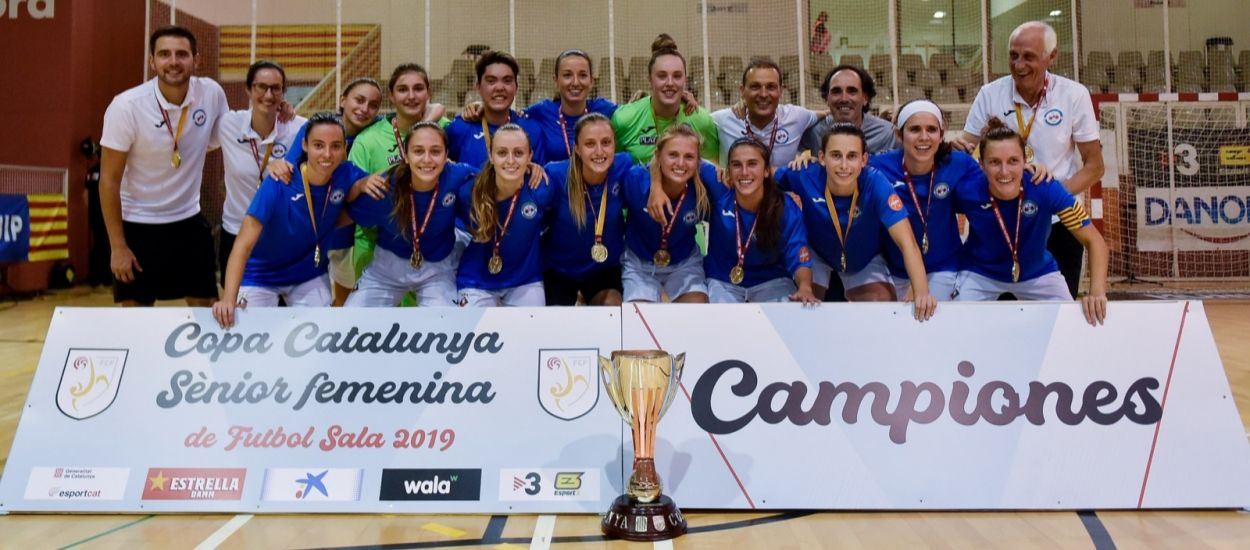La AE Penya Esplugues, campeona de la Copa Catalunya Senior femenina de fútbol sala