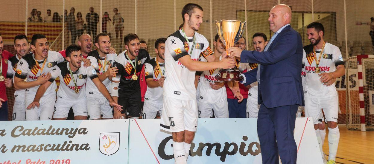 L'Industrias Santa Coloma trenca l'hegemonia i es el nou campió de la Copa Catalunya Sènior de futbol sala