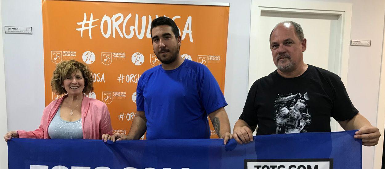 Visita federativa del CD Almeda a la delegación del Baix Llobregat