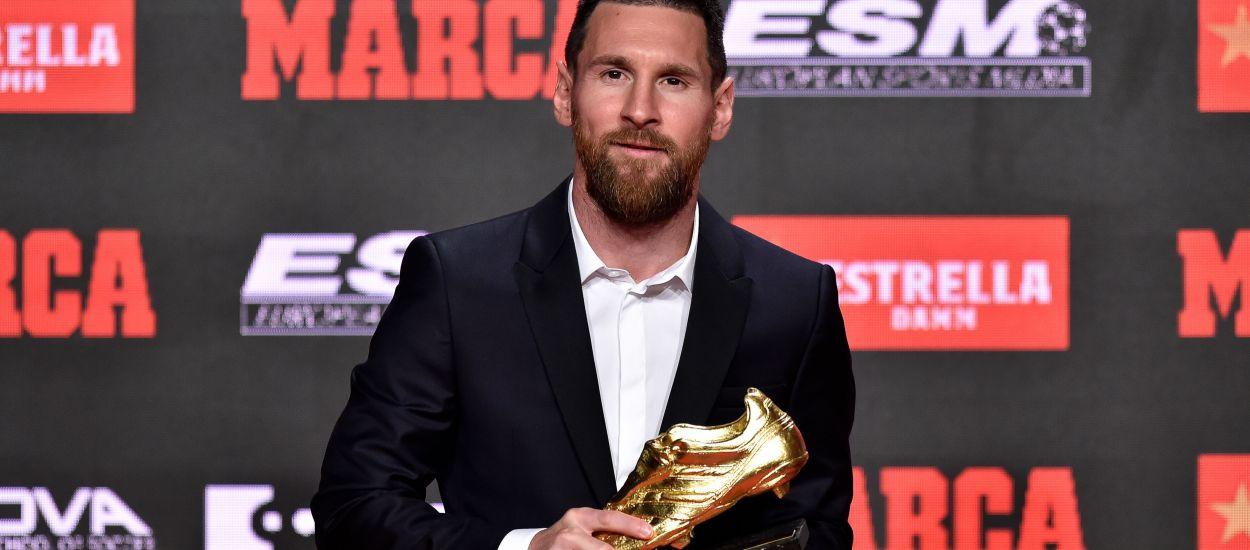 Leo Messi rep la seva sisena Bota d'Or