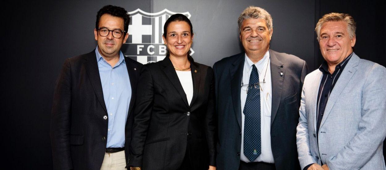 Presència federativa al Barça-Minsk de la Champions League femenina