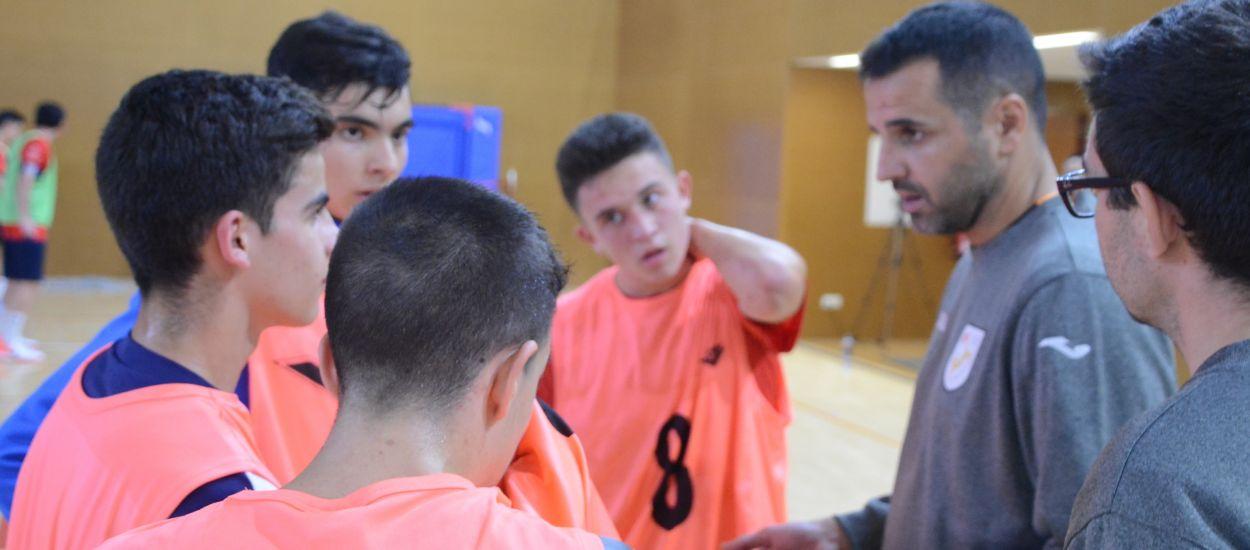 Caras nuevas en el segundo entrenamiento de las Selecciones Catalanas sub 16 y sub 19 de fútbol sala