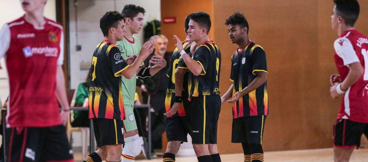 Catalunya sub 16 masculina de futbol sala empata a 3 davant el FS Ripollet