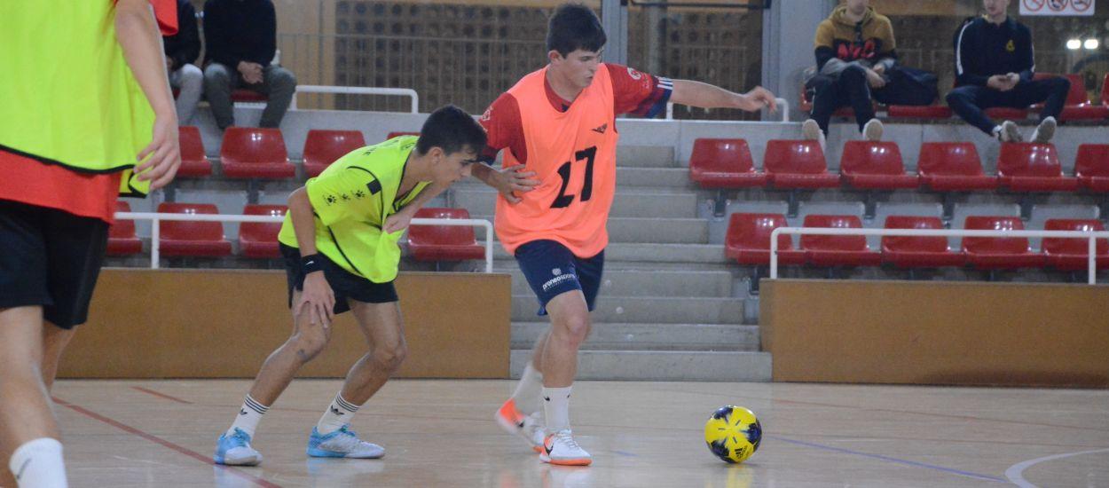 La intensitat i el ritme alt marquen els entrenaments de les seleccions catalanes sub 16 i sub 19 de futbol sala