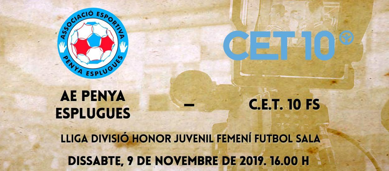 L'LCFS en directe: AE Penya Esplugues – CET 10 FS femení