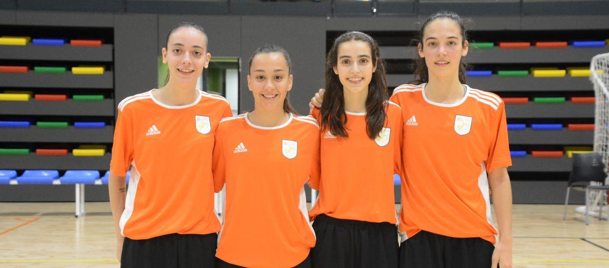 Cuatro jugadoras de las Selecciones Catalanas convocadas con la Selección Española sub 19 femenina de fútbol sala