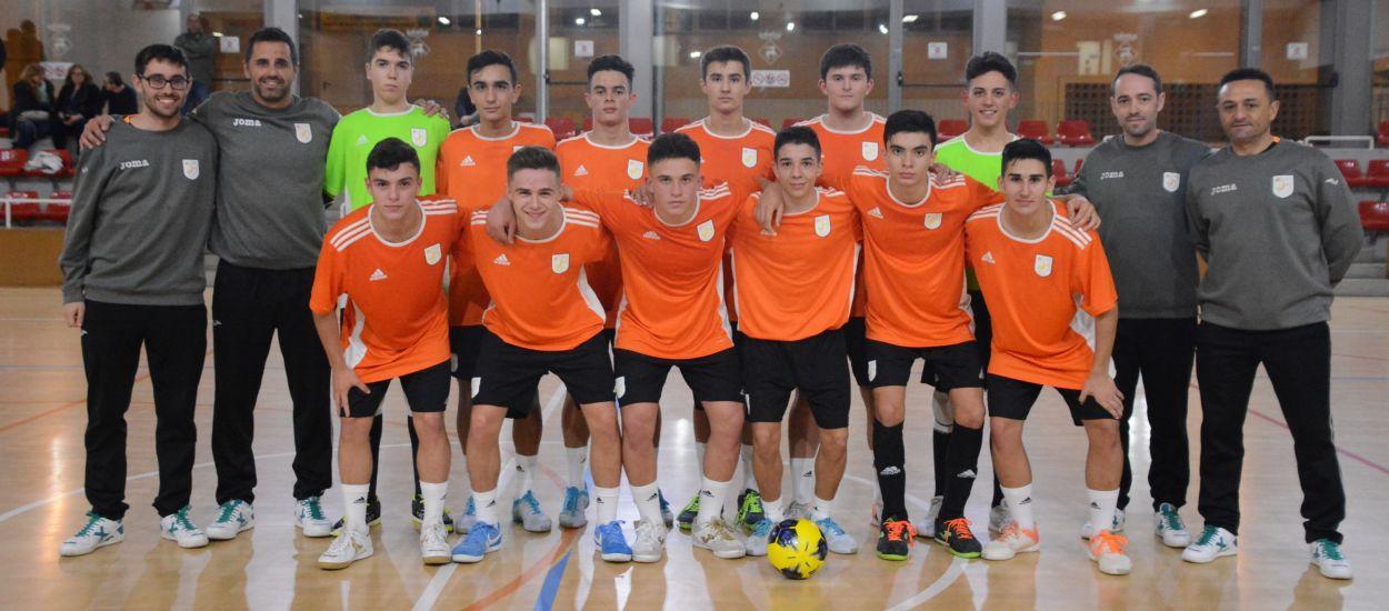 La Selección Catalana sub 16 de fútbol sala se entrena con la lista definitiva de 12 jugadores