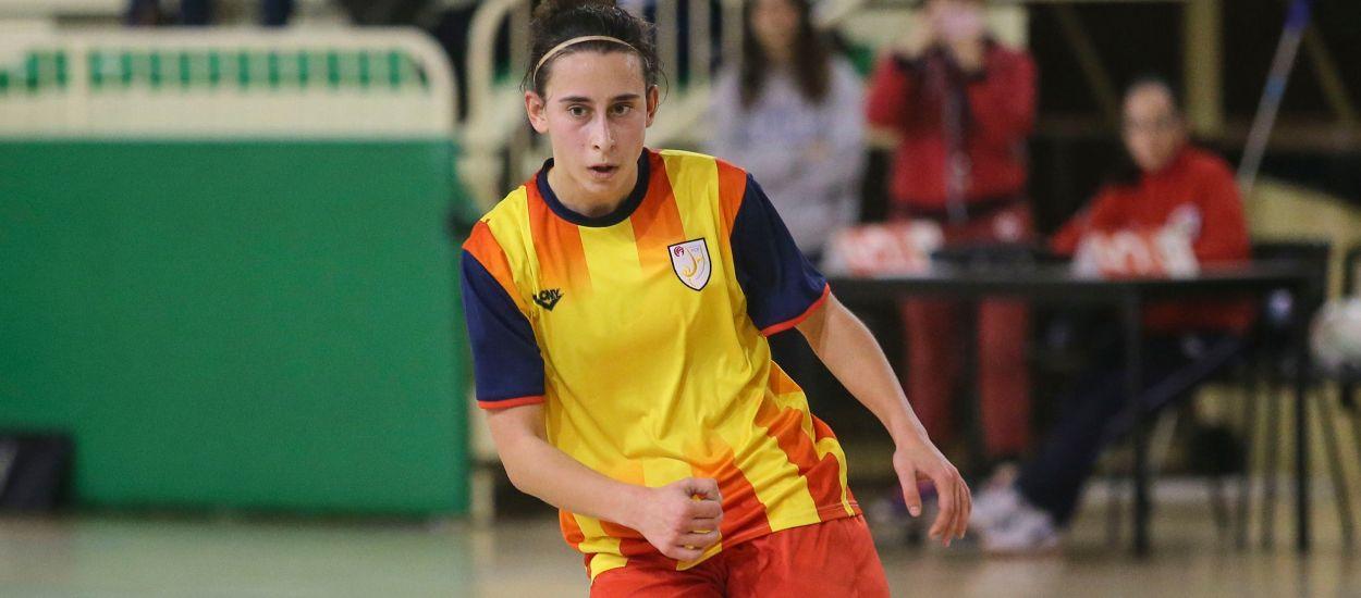 Primera internacionalidad de la catalana Laura Oliva con la Selección Española femenina de fútbol sala