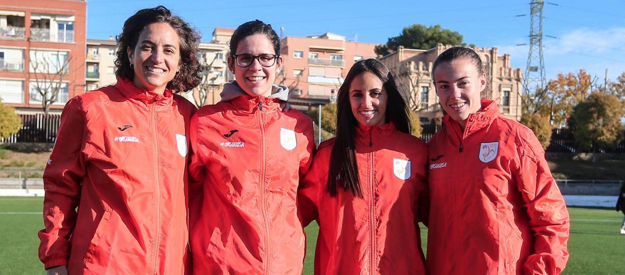 Brenda Pérez, Candela Andújar i Cèlia Catà visiten l'Institut Les Vinyes