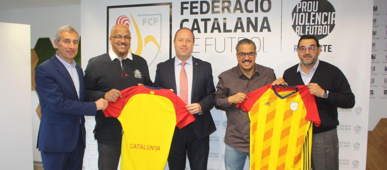 Visita institucional de la federació kuwaitana de futbol a l'FCF