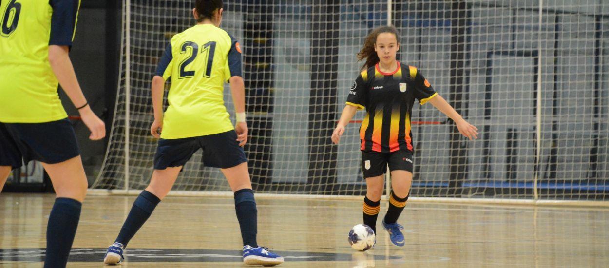 La Selecció Catalana Infantil femenina venç en el seu primer partit amistós de la temporada