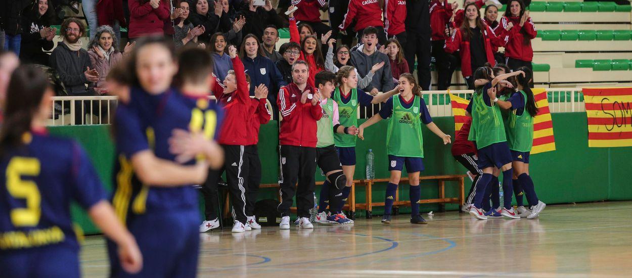 Las Selecciones Catalanas sub 16 femenina y masculina de fútbol sala jugarán la fase final del Campeonato de España