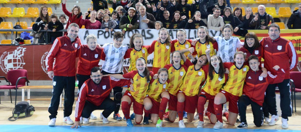 Catalunya sub 16 femenina de futbol sala jugarà la gran final del Campionat d'Espanya