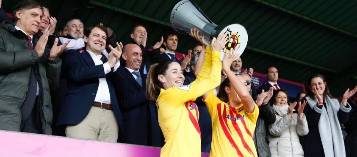 El Barça s'exhibeix i es proclama campió de la Supercopa d'Espanya femenina