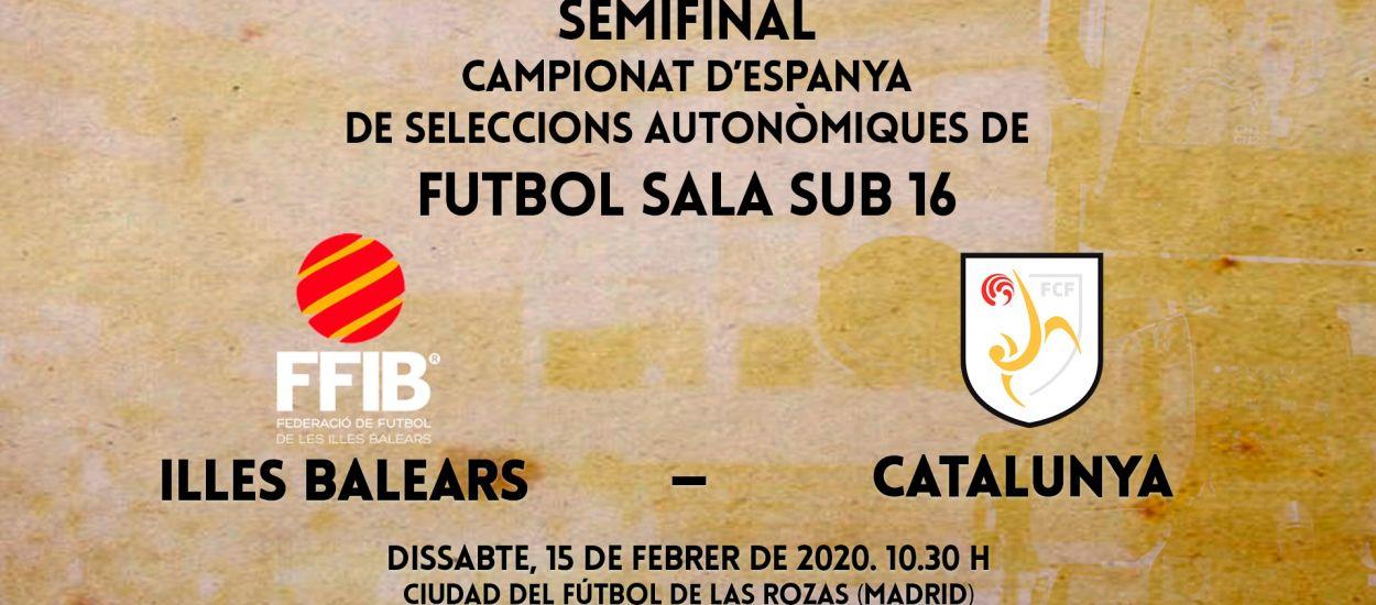 En directo los partidos de Catalunya sub 16 de fútbol sala en la Fase Final de los Campeonatos de España