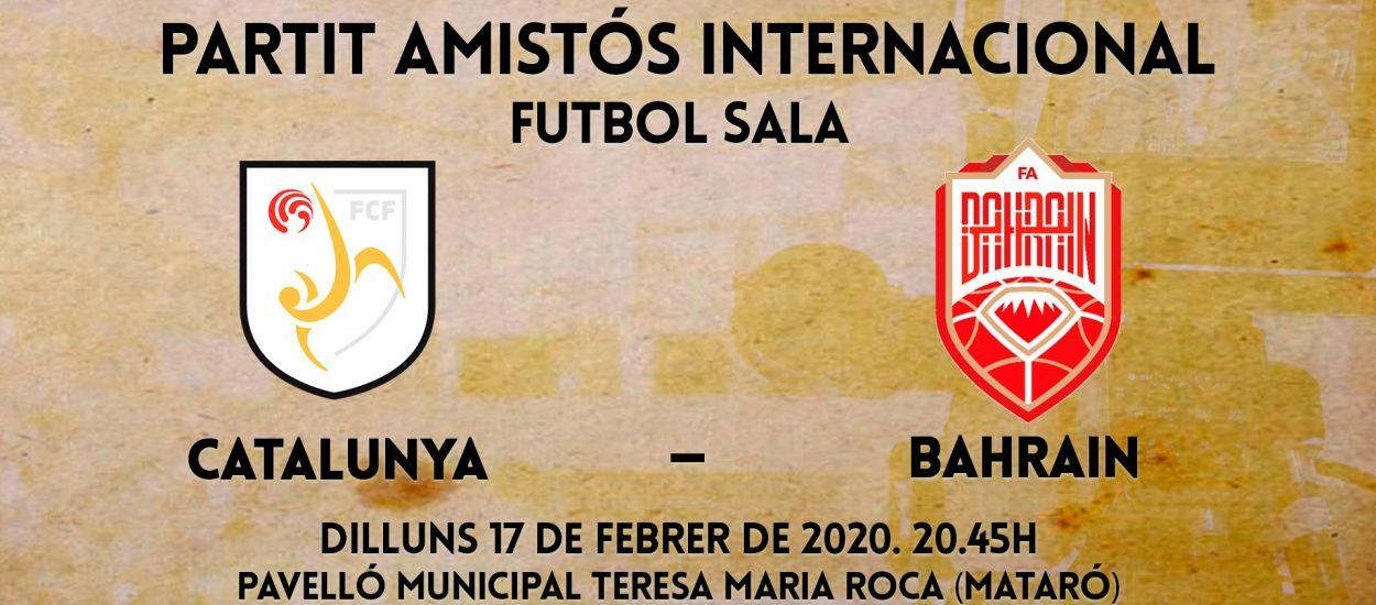 El partit amistós internacional entre Catalunya – Bahrain, en streaming