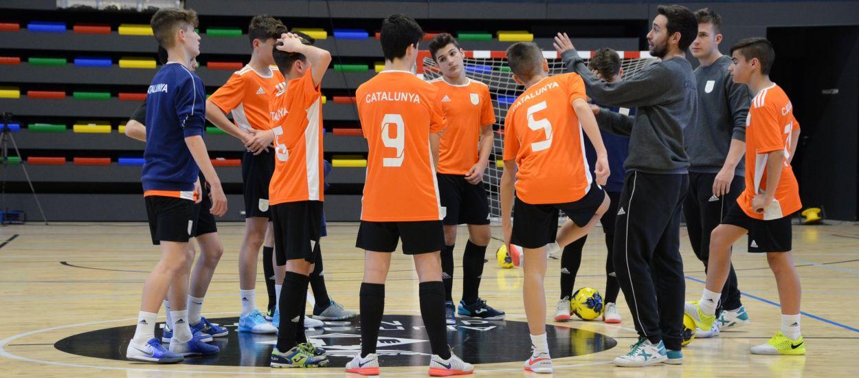 Penúltim entrenament de les Seleccions Catalanes Infantil masculina i femenina de futbol sala