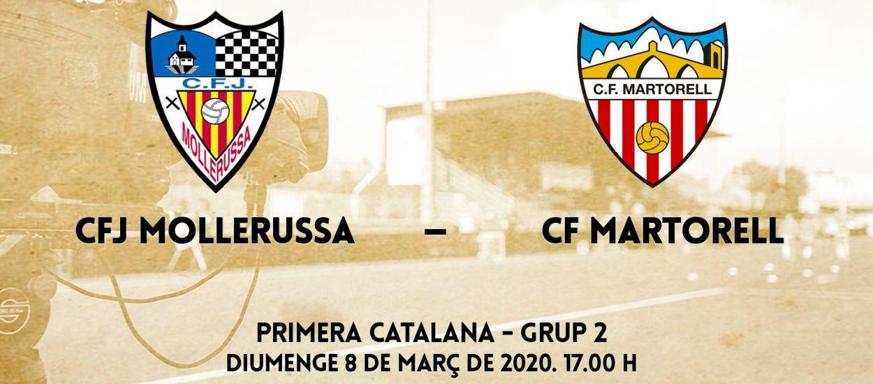 El partit entre el CFJ Mollerussa i el CF Martorell, en streaming