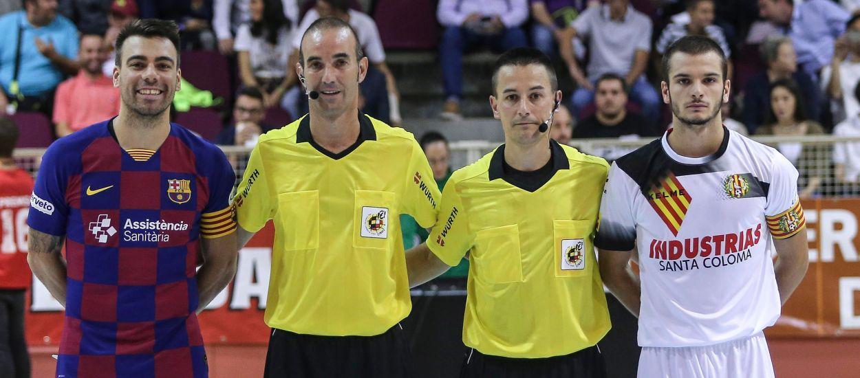 Dues parelles arbitrals catalanes cridades pels play-off de nacional de futbol sala