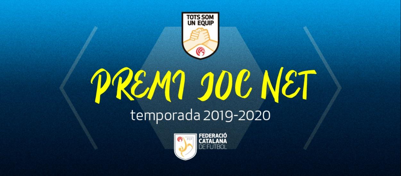 Els equips del futbol amateur català reben el Premi Joc Net