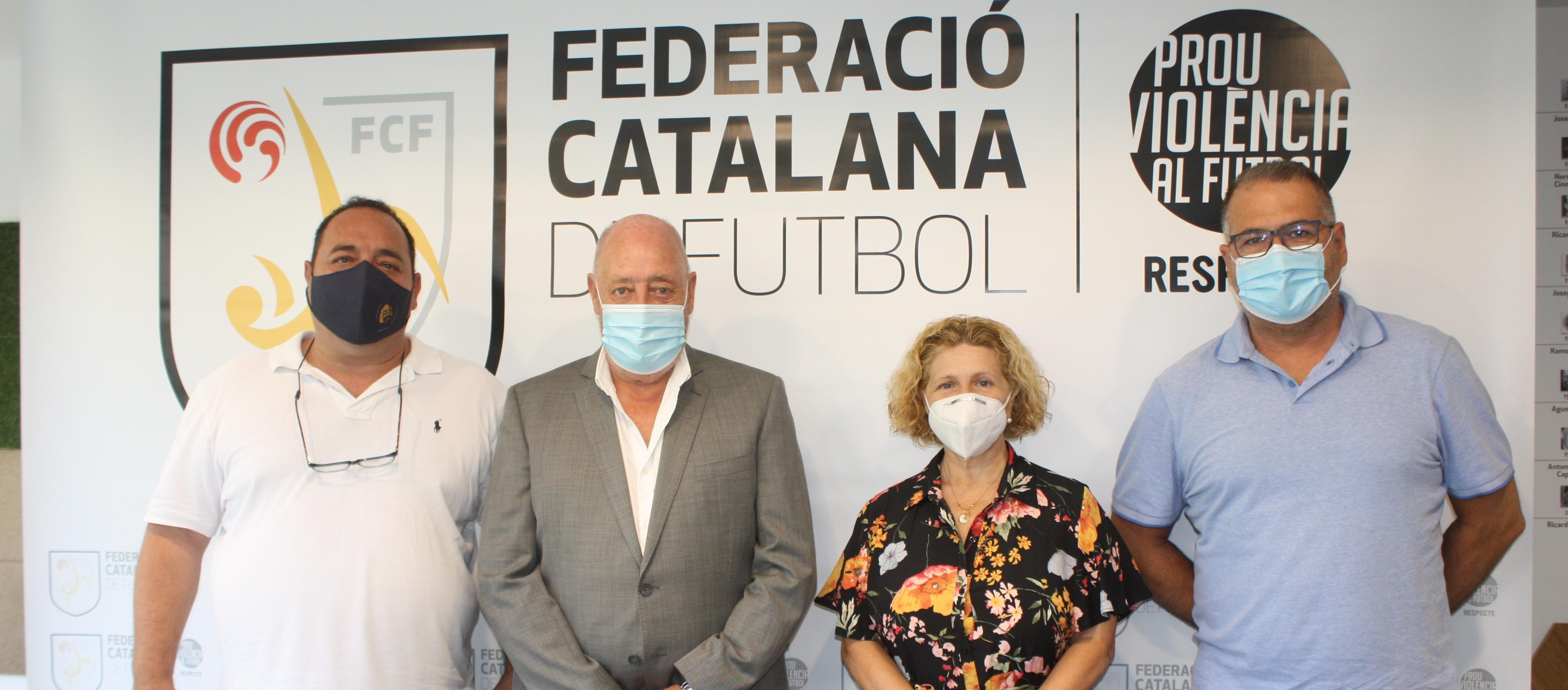 Visita institucional de la Penya Barcelonista Sant Vicenç dels Horts a l'FCF