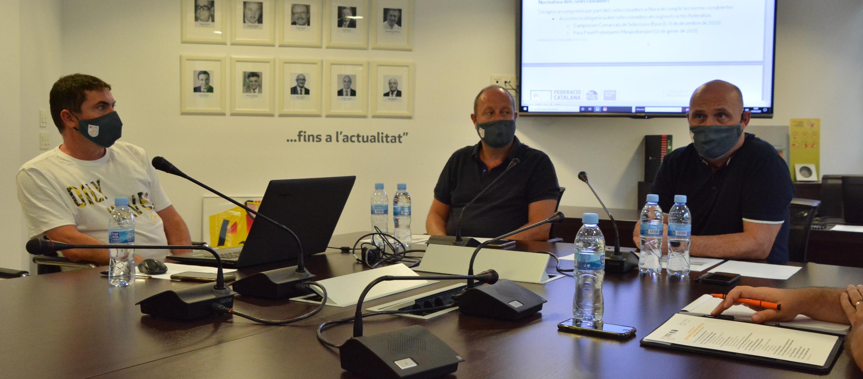 Primera reunió de la temporada de l'Àrea Esportiva i Seleccions Catalanes de futbol sala