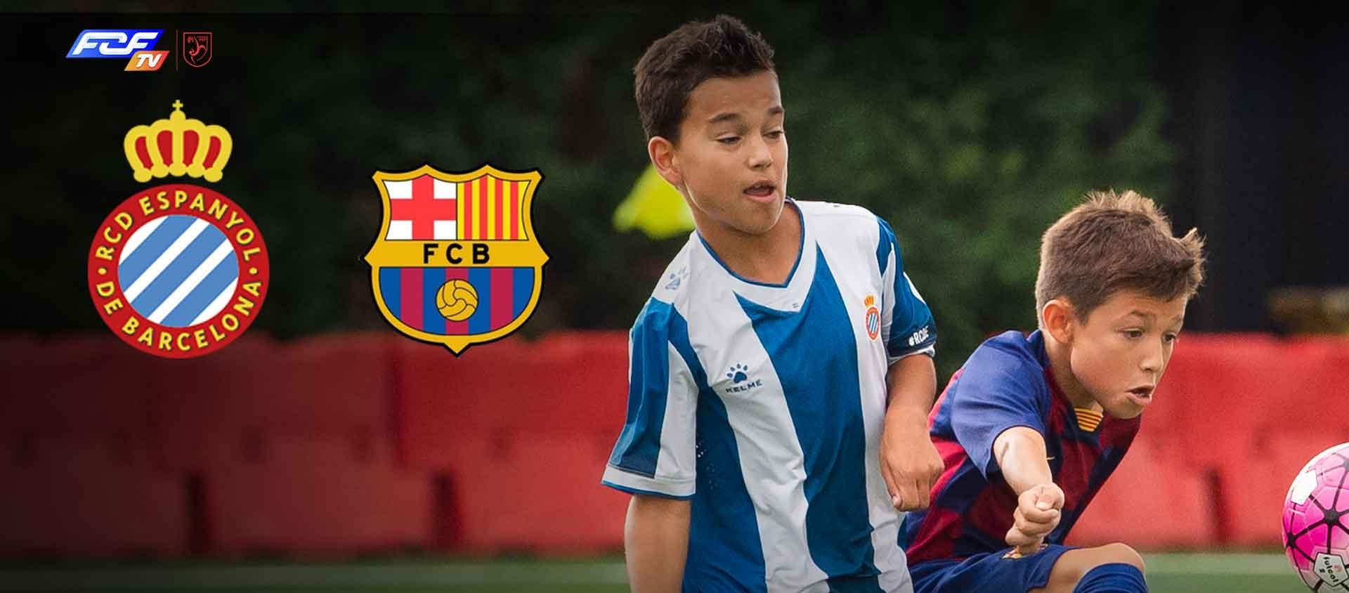 El futbol base torna amb la retransmissió del partidàs Espanyol-Barça de Preferent Aleví