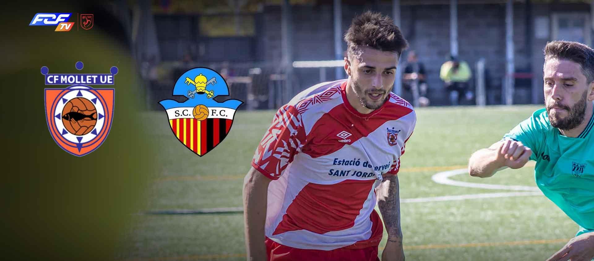 El partit CF Mollet UE-Sant Cugat FC, en streaming a l'FCF TV