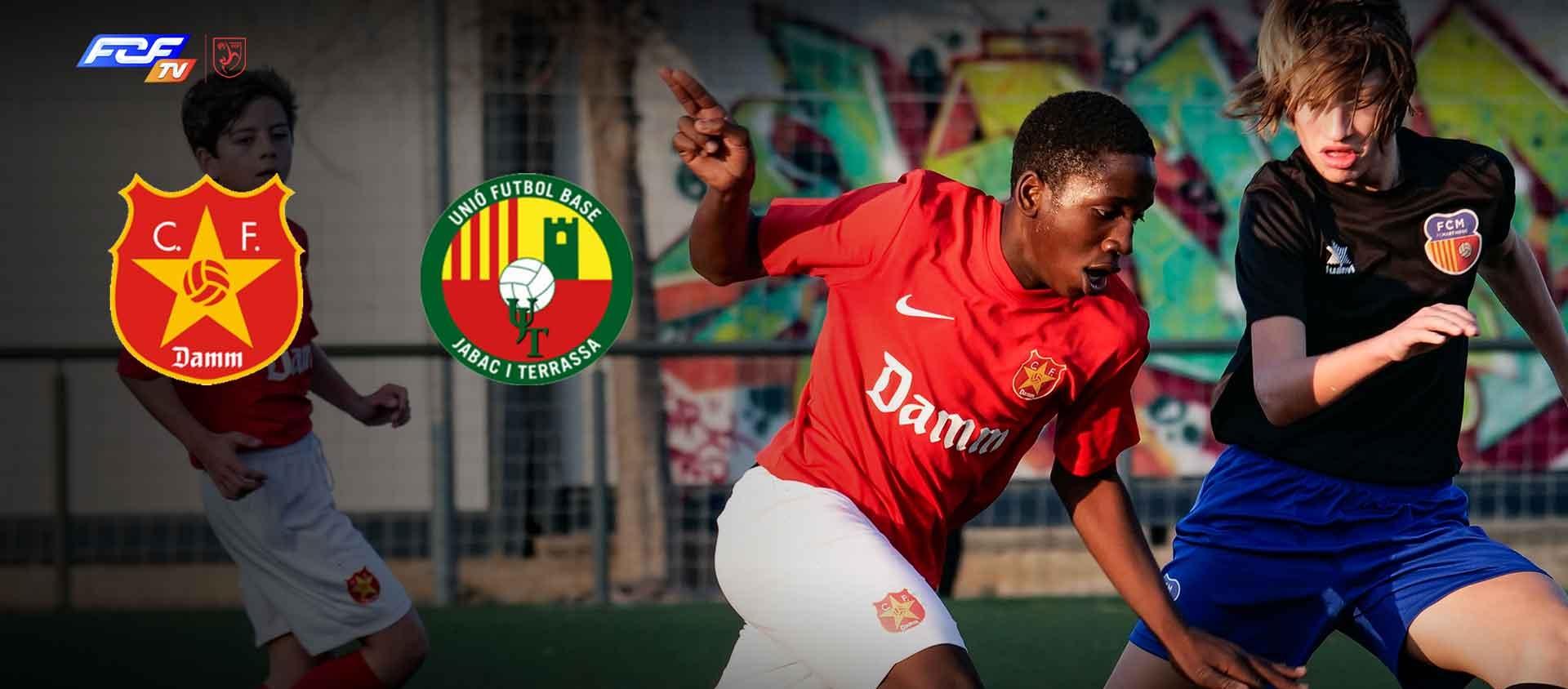 El CF Damm-UFB Jàbac i Terrassa, primer partit Infantil que retransmestrà l'FCF TV
