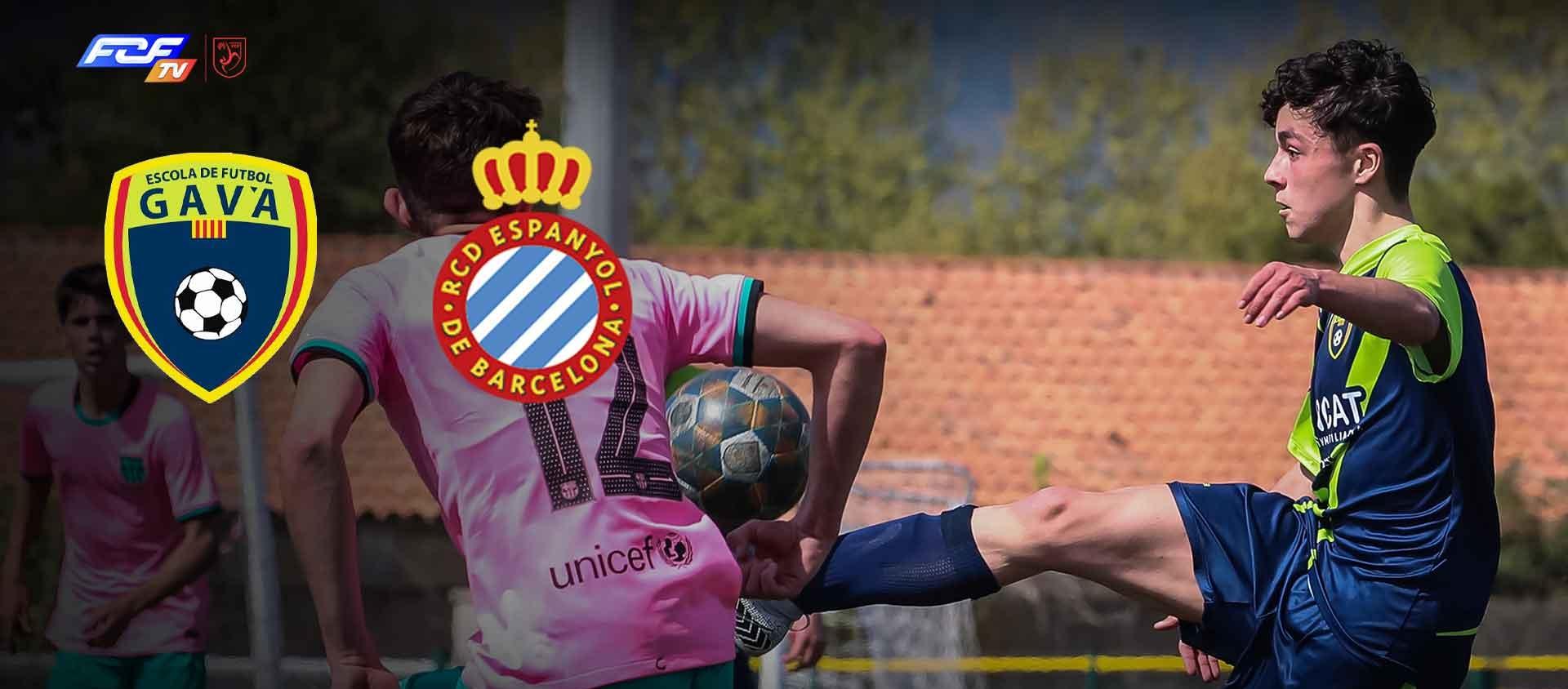 L'FCF TV retransmetrà el partit Cadet EF Gavà-RCD Espanyol