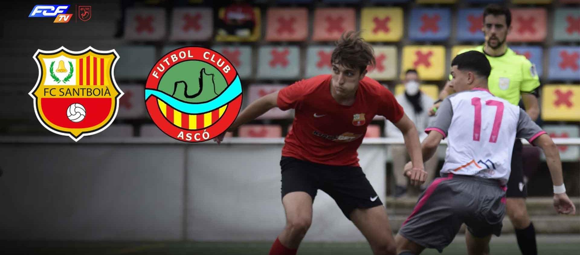 El FC Santboià i el FC Ascó s'enfronten a l'FCF TV