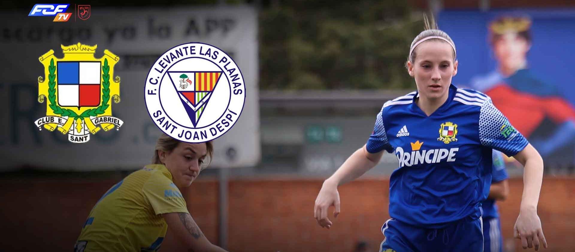 La lluita per l'ascens entre el CE Sant Gabriel i el FC Levante Las Planas, a l'FCF TV