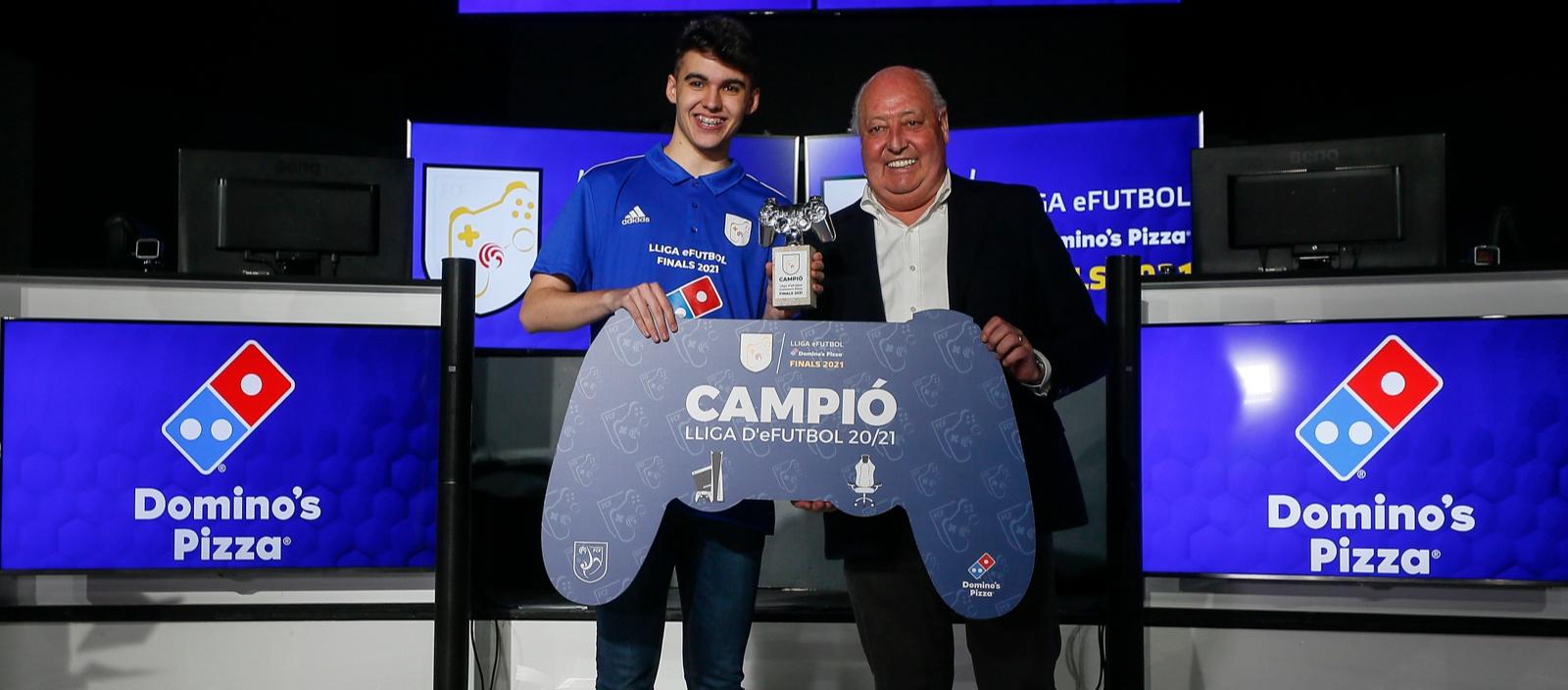 Jordi Martínez, flamant guanyador de la Lliga E-Futbol