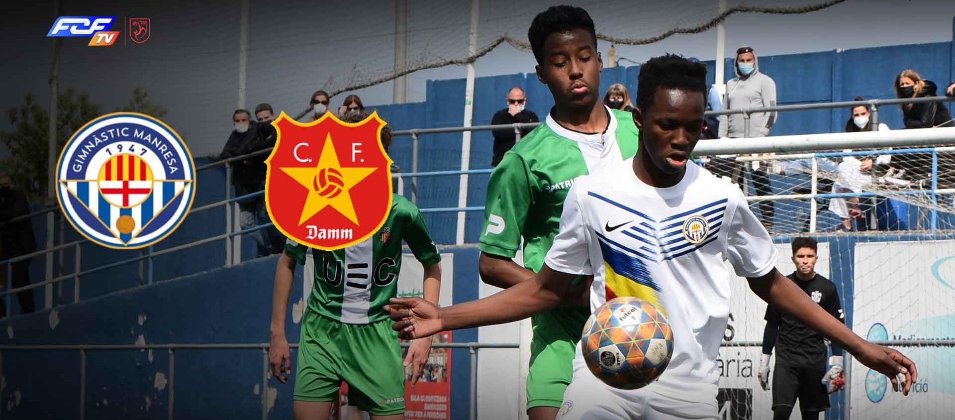 El Gimnàstic Manresa - CF Damm de la Divisió d'Honor Infantil, a l'FCF TV