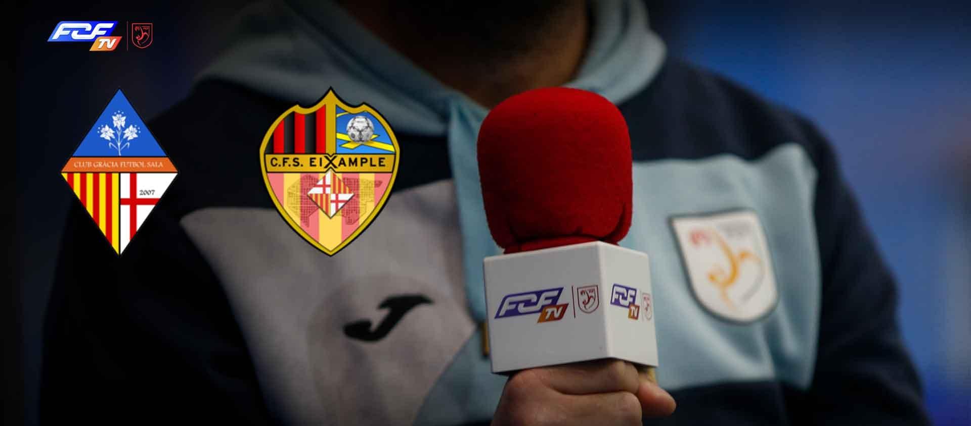 L'ascens en joc: Gràcia Futbol Sala Club - CFS Eixample, en diferit a les 17.30 hores