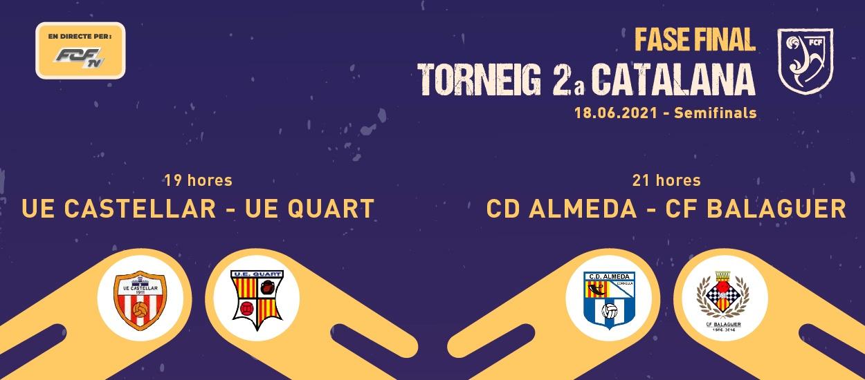Les dues semifinals del Torneig de Segona Catalana, en streaming a l'FCF TV